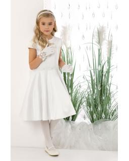 Pokomunijna sukienka dla dziewczynki 134-158 Isabel biała