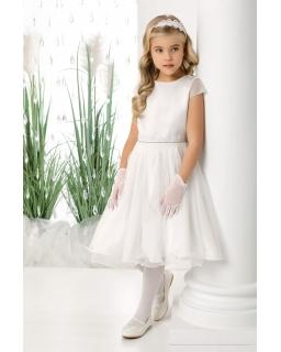 Rozkloszowana sukienka pokomunijna 134-164 Diana biała