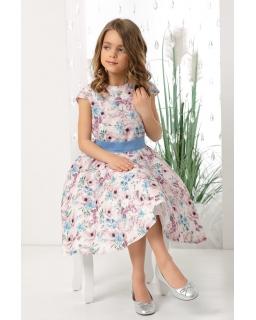 Wiosenna sukienka w kwiaty 128-158 Holly róż