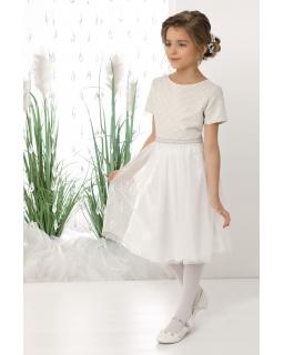Dziewczęca sukienka okazjonalna 128-158 Rosie ecru