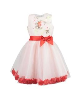 Niezwykła sukienka wizytowa 98-128 April brzoskwinia