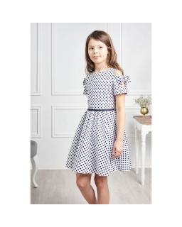 Rozkloszowana sukienka w groszki 104-140 Lenka