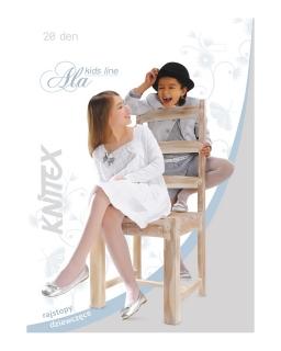 Cieliste rajstopki dziewczęce Knitex DEN 20 116 - 146 Ala natural