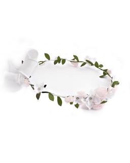 Wianek komunijny WJX290A różowe kwiaty