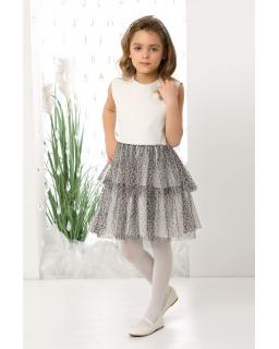 Dziewczęca sukienka z panterką 128-152 Lona