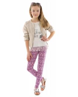 Wzorzyste legginsy dla dziewczynki 116-158 KRP330 wzór017