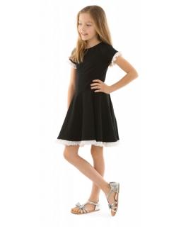 Dziewczęca sukienka na co dzień 116-158 KRP333 czarna 1