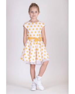 Sukienka dla dziewczynki w grochy 128-158 P-188