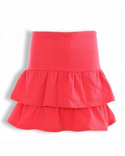 Bawełniana spódniczka dla dziewczynki 128-158 KRP337 czerwona
