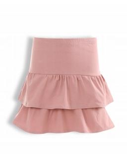 Bawełniana spódniczka dla dziewczynki 128-158 KRP337 różowa