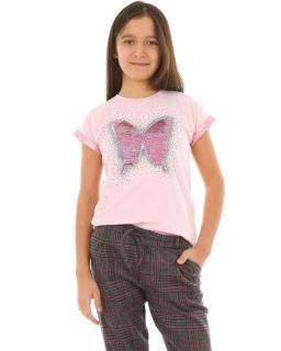Bluzka hiszpanka dla dziewczynki 128-164 KRP350 biała