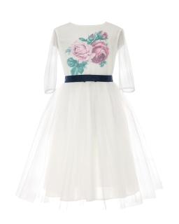 Rozkloszowana piękna sukienka pokomunijna 134-158 35A/SM/20