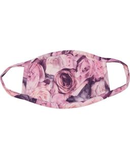 Maseczka niemedyczna dla dziewczynki w róże MEM100