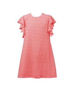 Trapezowa sukienka z falbanką 122-152 Paula koral