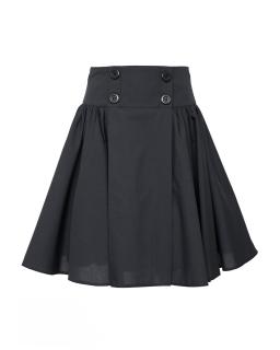 Rozkloszowana szkolna spódnica 128-158 307A/S/20 czarna