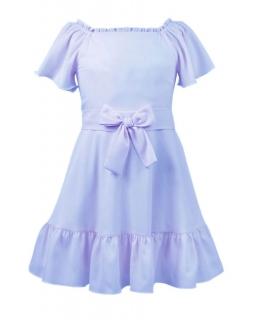 Elegancka sukienka hiszpanka 128-152-152XL Aurora niebieska