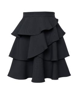 Szkolna modna falbaniasta spódnica 122-158 310A/S/20 czarna