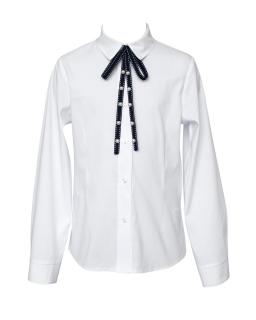 Elegancka bluzka dla dziewczynki 134-164 112B/S/20 biała 1