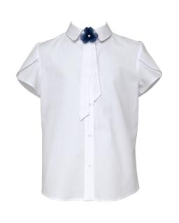 Stylowa bluzka z krótkimi rękawkami 116-152 107/S/20 biała 1