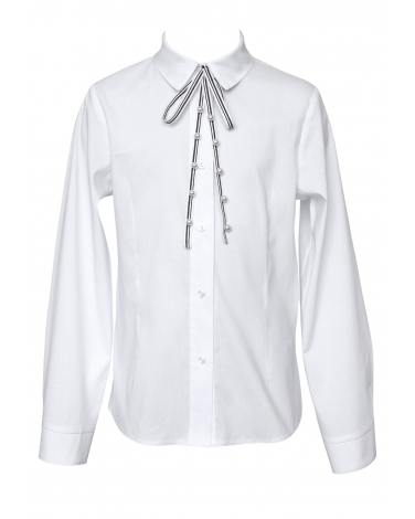 Elegancka bluzka dla dziewczynki 134-164 112A/S/20 biała