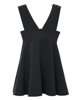 Szkolna sukienka na szelkach 128-158 212A/S/20 czarna