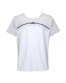 Elegancka koszula z krótkimi rękawami 122-164 140/S/20 biała 1