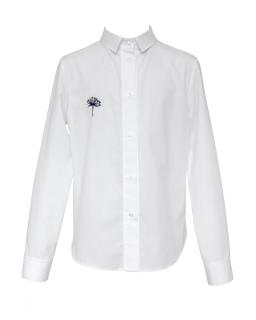 Biała koszula dla z naszytym dmuchawcem 128-158 130/S/20 biała