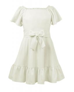 Elegancka sukienka hiszpanka 128-152-152XL Aurora kremowa