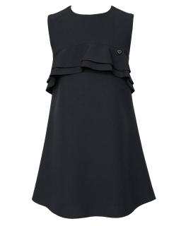 Prosta klasyczna sukienka z falbankami 122-152 201A/S/20 czarna 1