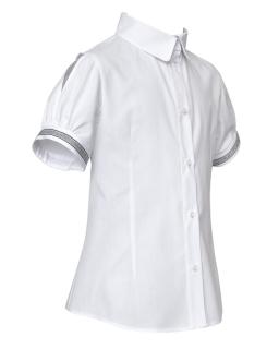 Dziewczęca koszula z krótkimi rękawami 128-158 108/S/20 biała 1