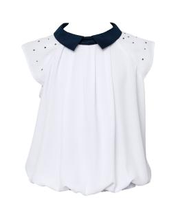 Oryginalna biała bluzka dla dziewczynki 140-170 125/S/20 1