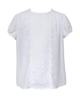 Bluzka z krótkimi rękawkami 134-164 121/S/20 biała 1