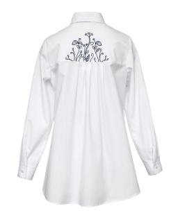 Biała koszula z wydłużonym tyłem 134-164 115/S/20 biała