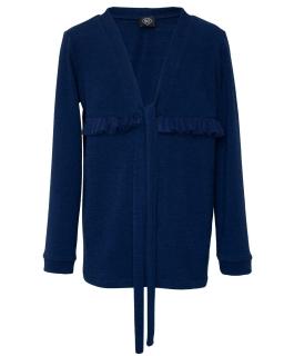 Elegancki sweterek dla dziewczynki 128-164 502/S/20 granatowy
