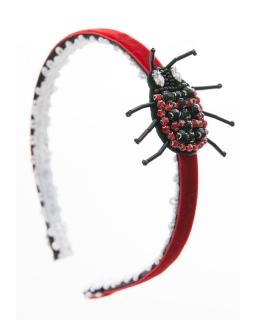 Opaska do włosów z biżuteryjną biedronką 0AWo-02
