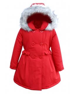 Jesienna kurtka w formie płaszczyka 86- 134 Zuzanna czerwona