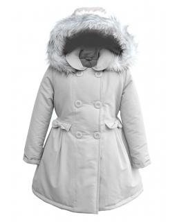 Jesienna kurtka w formie płaszczyka 86- 134 Zuzanna szara