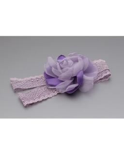 Opaska dla maluszka z kwiatem C107 fioletowa