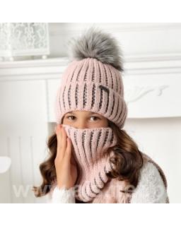 Zimowy komplet dla dziewczynki 52-56 AJS/40-532 róż