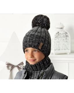 Zimowy komplet dla chłopca 52-56 AJS/40-567 czarny