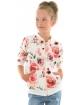 Dziewczęca bluza bomberka w kwiaty 128-158 KRP358