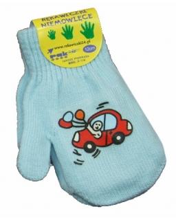 Ciepłe rękawiczki na zimę z jednym palcem 10-12 cm