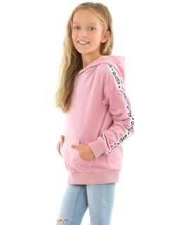 Welurowa bluza z katurem Queen 116-158 KRP363 róż
