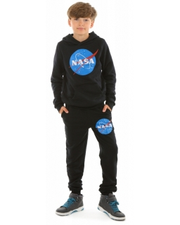 Ciepłe spodnie dla chłopca 116-158 KRP365 czarne 1