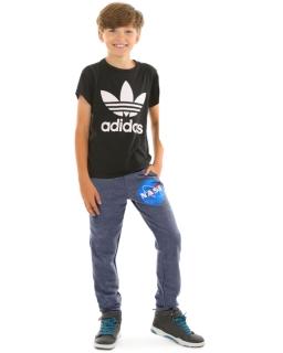 Ciepłe spodnie dla chłopca 116-158 KRP365 granatowe