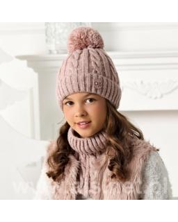 Zimowy komplet dla dziewczynki 52-56 AJS/40-4536 róż