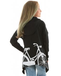 Asymetryczna bluza oversize 128-158 KR56 czarna