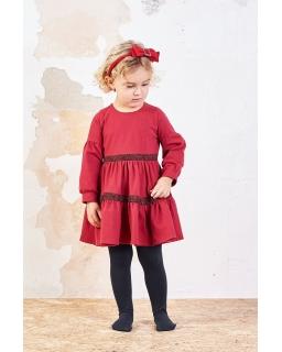 Oversizowa sukienka dziewczęca 80-116 Mary bordowa 1