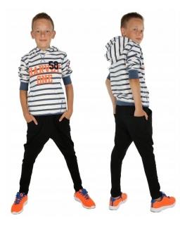 Ocieplane spodnie baggy dla chłopca 116-158 KRP369 czarne