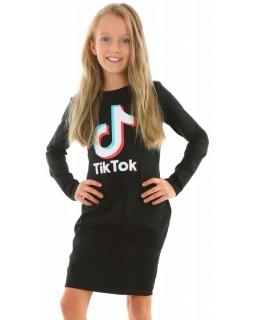 Sukienka Tik Tok tuba dla dziewczynki 128-158 KRP371 czarna